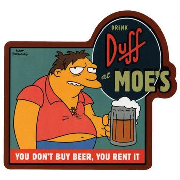 Simpsons - Rent Beer Decal