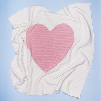 Cotton Baby Blankets - Heart
