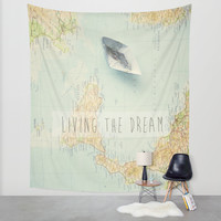 living the dream Wall Tapestry by Ingrid Beddoes
