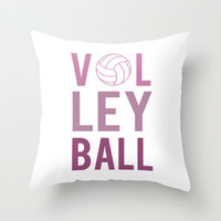 Volleyball (purple) Throw Pillow by raineon