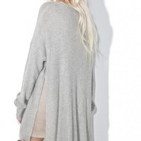 Subtle Romance Slit Sweater