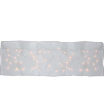 8 Function LED Illuminated Snow Blanket For Mantle or Christmas Village Display