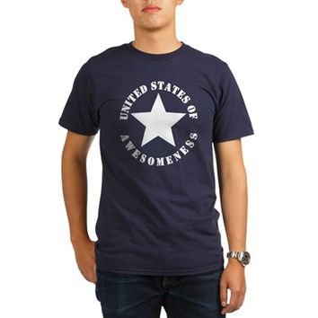 United States of Awesomeness Organic Men's T-Shirt (dark)
