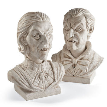 Velma and Evander Interactive Marble Busts