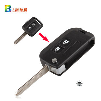 Flip Folding Remote Key Shell Car Case Fob Cover for Qashqai Nissan Micra Navara Almera Note 2 Buttons With LOGO