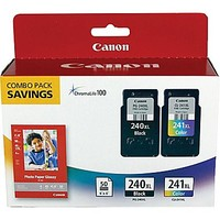 Canon PG-240XL Black and CL-241XL Color Ink Cartridges & Photo Paper (5206B005), Combo 2/Pack | Staples
