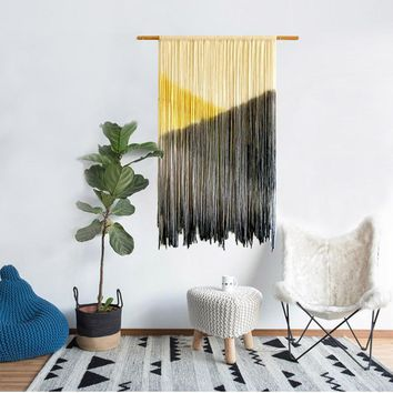Home Textile Bohemia woven hand made tassel tapestry living room channel hanging painting soft suit  pendant wall hanging mandal