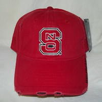 New Red NCAA North Carolina NC State Univ. Wolfpack Embroidered Buckle Back Cap