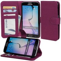 PU Flip Wallet Cover Case for Samsung Galaxy S6 / S6 Edge Phone
