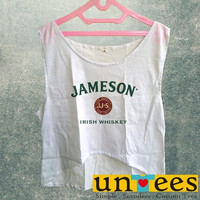 Women's Crop Tank - Jameson Irish Whiskey Design