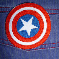 Captain America Shield iron-on patch