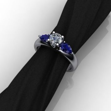 Custom Design by Elegant Jewelers – Sapphire and Diamond Ring ELLIS