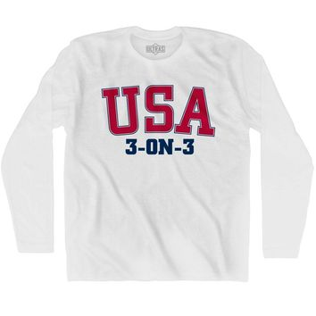 USA 3-on-3 Basketball Ultras Long Sleeve T-shirt