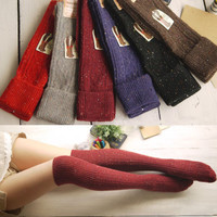 Fashion Girls Ladies Women Thigh High Over Knee Socks Long Cotton Stockings