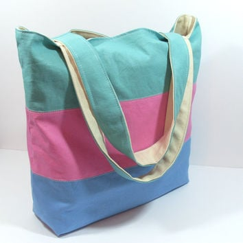 Linen Beach Tote, Beach Bag, Summer Beach Bag, Teacher Tote, Gym Tote Bag, Summer Beach Tote, Beach Bag Tote, Bridesmaid Tote, Large Bag