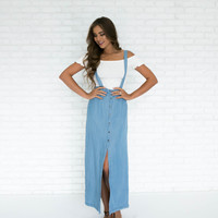 Little Miss Daisy Denim Maxi