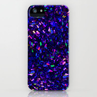 Fascination in blue- photograph of colorful lights iPhone Case by Sylvia Cook Photography | Society6
