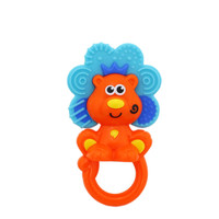 Baby Teether Toys Little Lion Teether Baby Rattle Toy 5.5*3.1''
