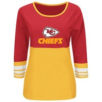 Majestic Kansas City Chiefs Roster Rush Fashion Top - Women's, Size: