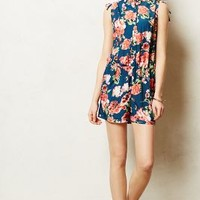 Thistleberry Romper by Anthropologie Blue Motif