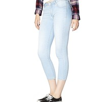 Blue Haze High Waist Cropped Jegging