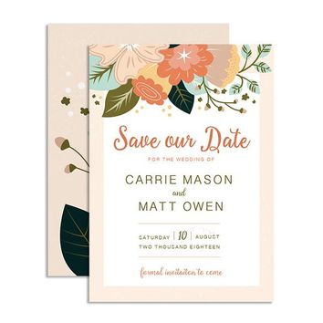Rustic Bouquet - Save the Date