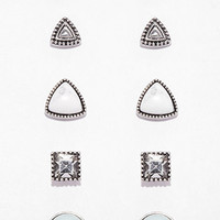 Mixed Faux Stone Stud Set