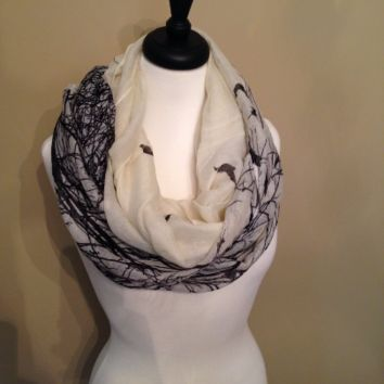 Bird infinity scarf by KnitPopShop