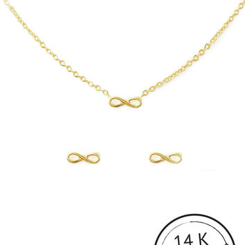 Friends Forever Necklace & Earring Set by Kitsch {Gold}