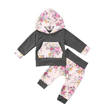 New Baby Girl Clothes Winter  Newborn Infant Baby Girls Hooded Tops Sweater Pants Leggings Outfits Set Toddler Girl Costume