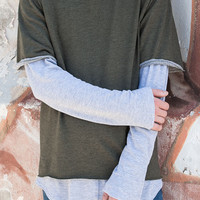 Raw Edge French Terry Box Fit Tee