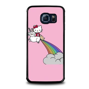 hello kitty unicorn samsung galaxy s6 edge case cover  number 1