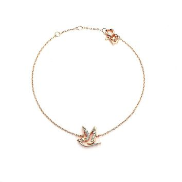 Symbol of Peace Studded Anklet