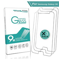 Galaxy S6 Screen Protector,AnoKe 2.5D Round Edge 9H Tempered Glass Screen Protector - Scratch Resistant,Anti-Glare,Bubble Free for Galaxy S6(3 Pack)