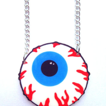 Creepy Cute Kawaii Laser Cut Eyeball Necklace