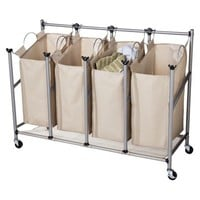 Threshold Brown Linen Quad Front Load Laundry Sorter