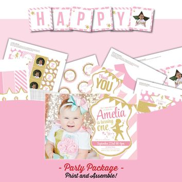 Ballerina Glitter Birthday Party Package