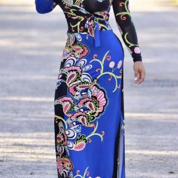 Lori Paisley Maxi Dress