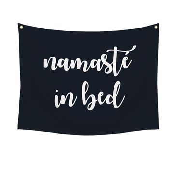 """""""Namaste in bed"""" Wall Tapestry By Stratton Home Décor"""