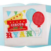 Circus Birthday Applique shirt - Customizable -  Infant to Youth