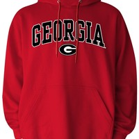 Georgia Bulldogs Mens Pullover Hood