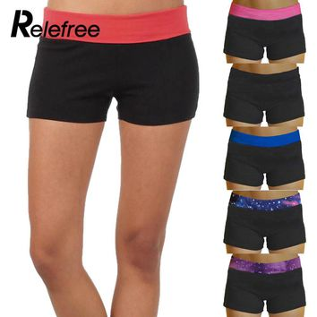 Summer Womens  Running Yoga Sports Shorts Gym Workout Waistband Hot