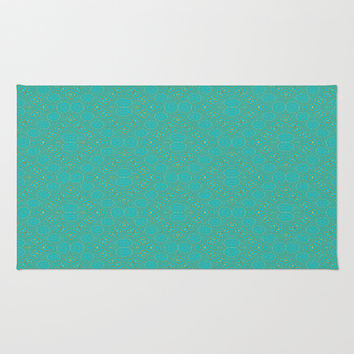 Teal Abstract Area & Throw Rug by Lena Photo Art