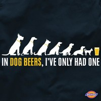 In Dog Beers, I've Only Had One Brewers Work Shirt