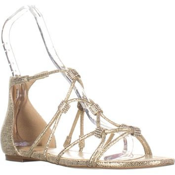 Ivanka Trump Chaley2 Glitter Sandals, Gold, 6 US