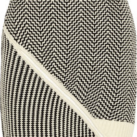 Opening Ceremony - Asymmetric knitted mini skirt