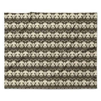 "Tobe Fonseca ""Panddern"" Panda Pattern Fleece Throw Blanket"