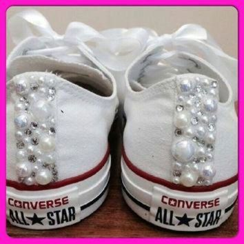 1f174642ec5641 CREYUG7 Pearl Converse and Wedding Converse   Vans   Nike   Pump