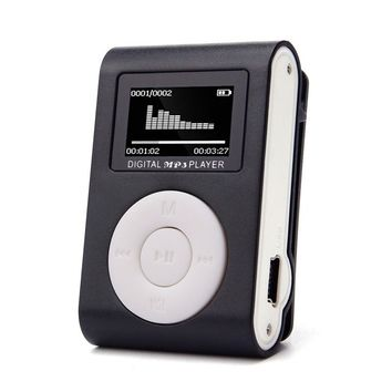 2017 USB LCD Screen Slim Mini Clip MP3 Music Player Support 32GB Micro SD TF Card case MP3 player electronica #MA24 Dropshipping
