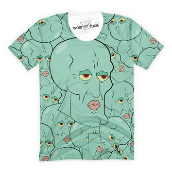 Handsome Squidward Collage T-Shirt